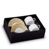 L'Objet Byzanteum Tea Cup Saucer (Box Of 2) - Tri-Color MPN: BZ453