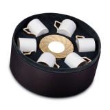 L'Objet Byzanteum Espresso Cup Saucer (Box Of 6) - Tri-Color MPN: BZ456
