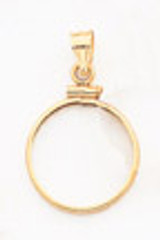 1/10 oz Mounted Panda Coin Screw Top Coin Bezel 14k Gold MPN: BP10/10PC UPC: 883957044095