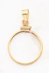 1 oz Mounted Panda Coin Screw Top Coin Bezel 14k Gold MPN: BP10/1PC UPC: 883957044101