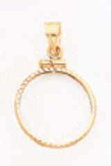 1 oz Mounted Panda Coin Screw Top Coin Bezel 14k Gold MPN: BP11/1PC UPC: 883957044156