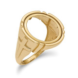 1/10AE Polished Coin Ring 14k Gold MPN: CR10/10AE