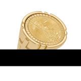 1/10AE Diamond -cut Coin Ring with coin 14k Gold MPN: CR10D/10AEC
