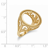 1/10AE Polished Coin Ring 14k Gold CR11/10AE