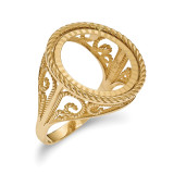 1/10AE Diamond -cut Coin Ring 14k Gold MPN: CR11D/10AE
