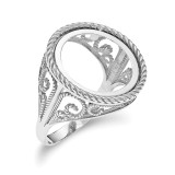 1/10AE Polished Coin Ring 14k white Gold MPN: CR11W/10AE