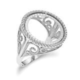 1/10AE Diamond -cut Coin Ring 14k white Gold MPN: CR11WD/10AE