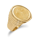 1/10AE Polished Coin Ring with coin 14k Gold MPN: CR12/10AEC
