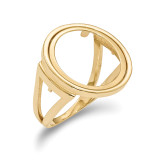 1/10AE Polished Coin Ring 14k Gold MPN: CR13/10AE
