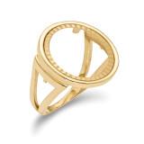 1/10AE Diamond -cut Coin Ring 14k Gold MPN: CR13D/10AE