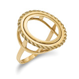 1/10AE Polished Coin Ring 14k Gold MPN: CR14/10AE