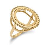 1/10AE Diamond -cut Coin Ring 14k Gold MPN: CR14D/10AE
