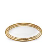 L'Objet Perlee Oval Platter Small - Gold MPN: PR265