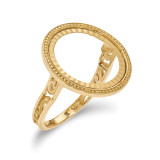 1/10AE Diamond -cut Coin Ring 14k Gold MPN: CR1D/10AE