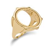 1/10AE Diamond -cut Coin Ring 14k Gold MPN: CR2D/10AE