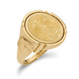 1/10AE Polished Coin Ring with coin 14k Gold MPN: CR5/10AEC