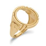 1/10AE Diamond -cut Coin Ring 14k Gold MPN: CR5D/10AE