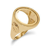 1/10AE Polished Coin Ring 14k Gold MPN: CR6/10AE