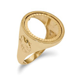 1/10AE Diamond -cut Coin Ring 14k Gold MPN: CR6D/10AE
