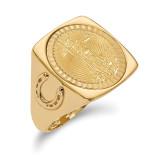 1/10AE Diamond -cut Coin Ring with coin 14k Gold MPN: CR7D/10AEC