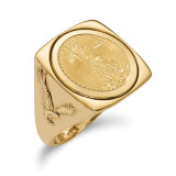 1/10AE Polished Coin Ring with coin 14k Gold MPN: CR8/10AEC