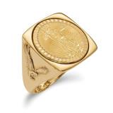 1/10AE Diamond -cut Coin Ring with coin 14k Gold MPN: CR8D/10AEC