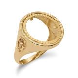 1/10AE Diamond -cut Coin Ring 14k Gold MPN: CR9D/10AE