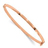 7 Inch Polished Hinged Bangle Bracelet 14k Rose Gold MPN: DB617 UPC: 191101626562