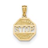 I'll Never Stop Loving You Pendant 14k Gold Polished MPN: K5185 UPC: 191101366659