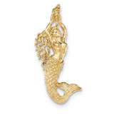 Mermaid Chain Slide Pendant 14K Gold Polished & Textured MPN: K5370 UPC: 637218150687
