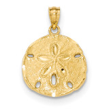 Large Sand Dollar Pendant 14k Gold Polished MPN: K5378 UPC: 886774617671