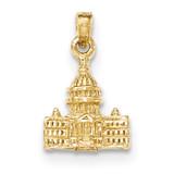 3-D Washington D.C. Capital Building Pendant 14k Gold MPN: K5400 UPC: 637218063932