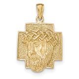 2-D Large Jesus Head with Crown Pendant 14k Gold Polished MPN: K5584 UPC: 637218167760