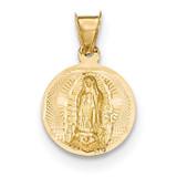Diamond -cut Lady of Guadalupe Circle Pendant 14k Gold Polished MPN: K5630 UPC: 886774618852