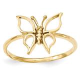 Butterfly Ring 14k Gold Polished MPN: K5773 UPC: 191101008931