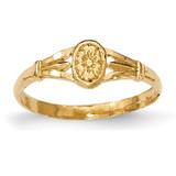 Oval Baby Ring 14k Gold Polished MPN: K5792 UPC: 637218001804