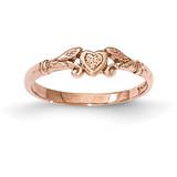 Textured Mini Heart Baby Ring 14k Rose Gold MPN: K5793 UPC: 637218171965