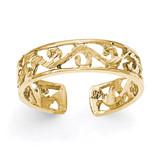 Diamond -cut Toe Ring 14k Gold Polished MPN: K5796 UPC: 191101363726