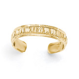 Diamond -cut Toe Ring 14k Gold Polished MPN: K5799 UPC: 191101368677
