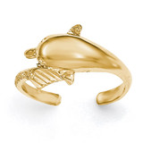 Diamond -cut Dolphin Toe Ring 14k Gold Polished MPN: K5801 UPC: 191101362361
