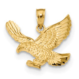 Eagle Pendant 14k Gold Diamond-cut MPN: K6000