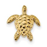 Large Sea Turtle Chain Slide 14k Gold Polished MPN: K6035