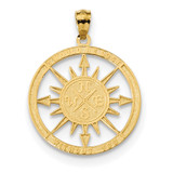 Lost Without You Compass Pendant 14k Satin & Polished MPN: K6098