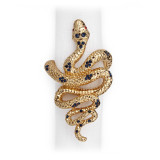 L'Objet Snake Napkin Rings Gold Blue Crystals Napkin Rings MPN: NJ4800