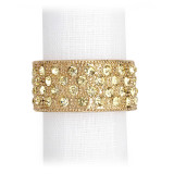 L'Objet Pave Band Napkin Rings Gold Yellow Crystals Napkin Rings MPN: NJ6002