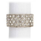 L'Objet Pave Band Napkin Rings Platinum White Crystals Napkin Rings MPN: NJ6003