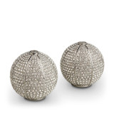 L'Objet Pave Sphere Salt and Pepper Shakers Platinum White Crystals Salt And Pepper Shaker MPN: SP6300