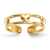 3-Hearts Toe Ring 14k Gold MPN: R568