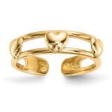 3-Hearts Toe Ring 14k Gold MPN: R568