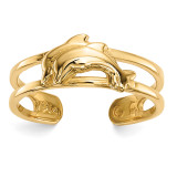 Dolphins Toe Ring 14k Gold MPN: R569